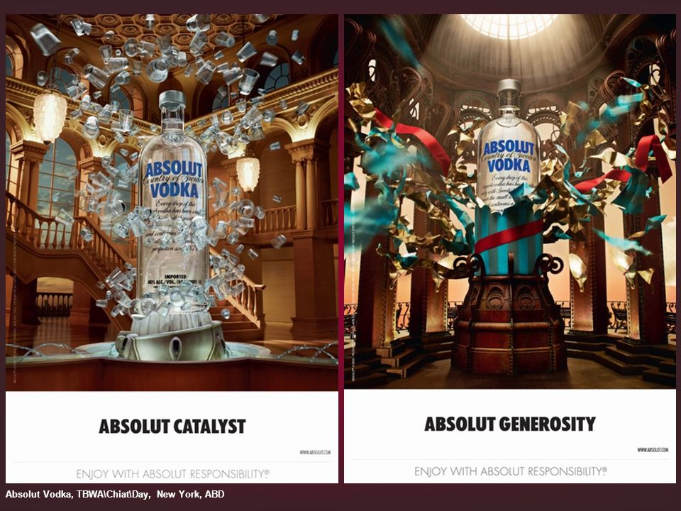 Absolut Vodka, TBWA\Chiat\Day, New York, ABD