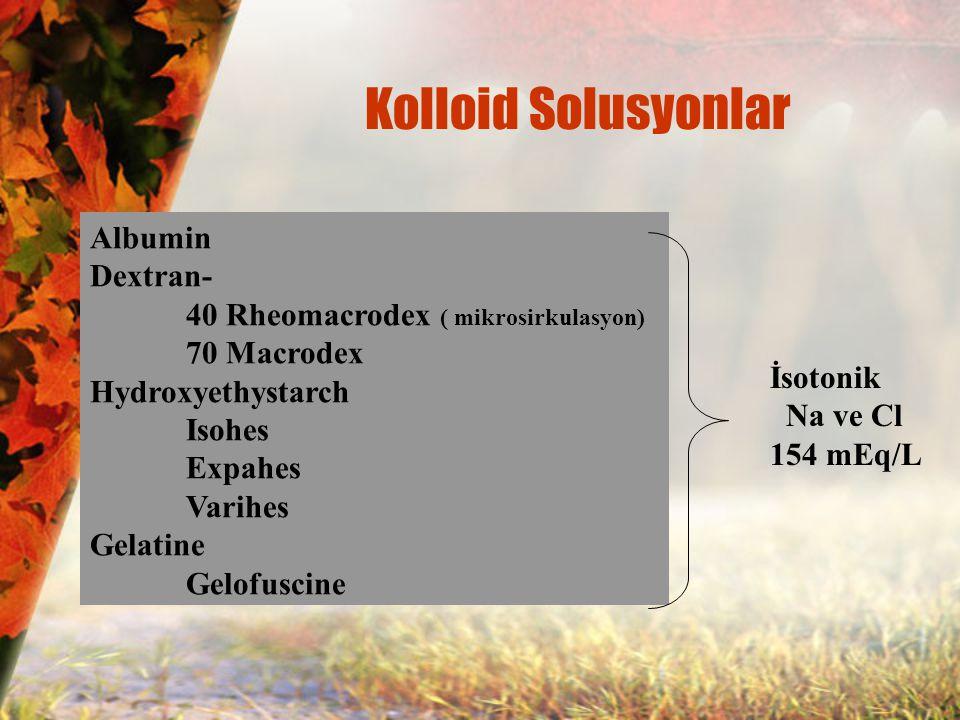 Kolloid Solusyonlar Albumin Dextran-