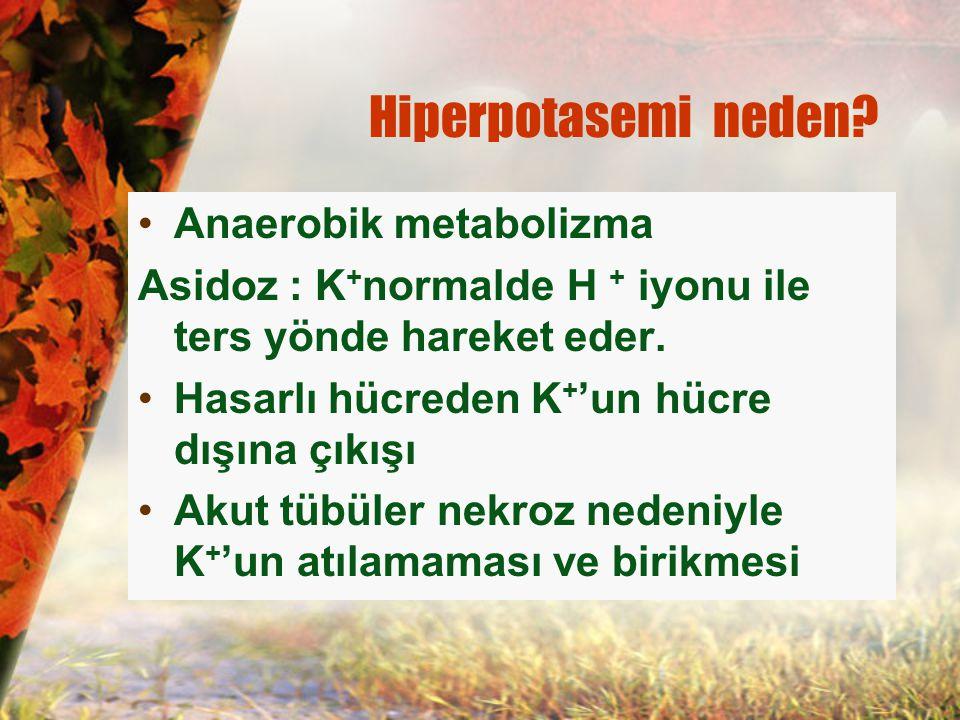 Hiperpotasemi neden Anaerobik metabolizma