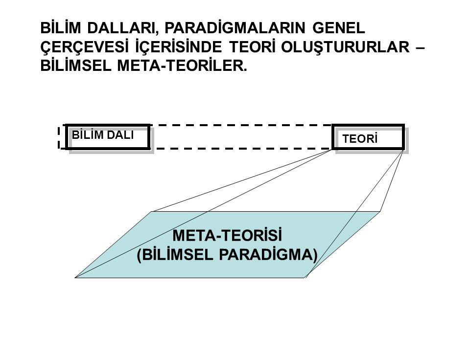 META-TEORİSİ (BİLİMSEL PARADİGMA)