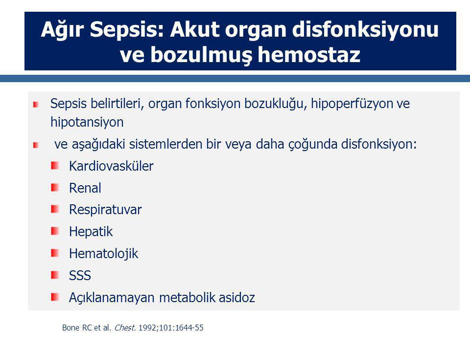 Ağır Sepsis: Akut organ disfonksiyonu ve bozulmuş hemostaz