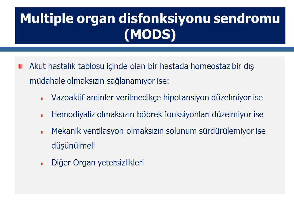 Multiple organ disfonksiyonu sendromu (MODS)