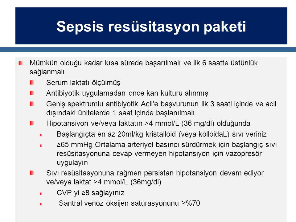 Sepsis resüsitasyon paketi