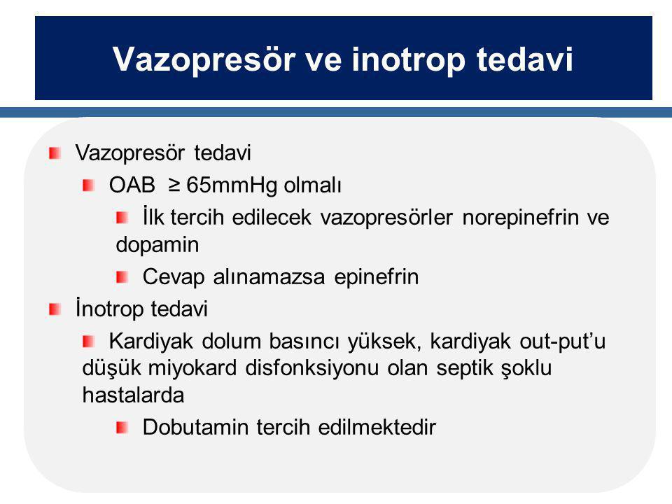 Vazopresör ve inotrop tedavi