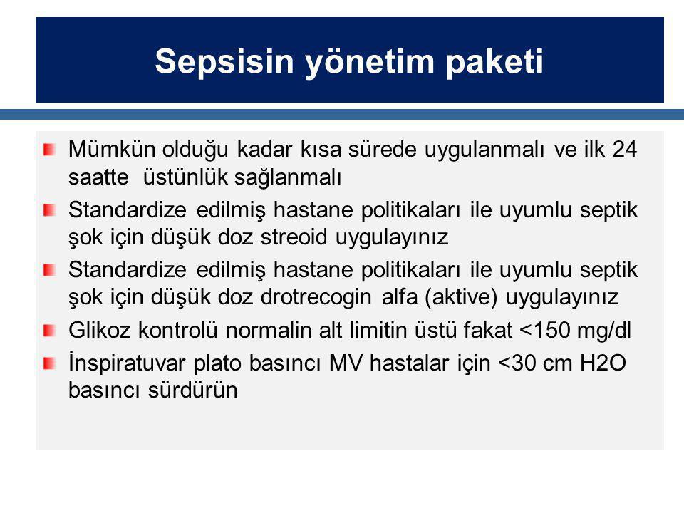 Sepsisin yönetim paketi