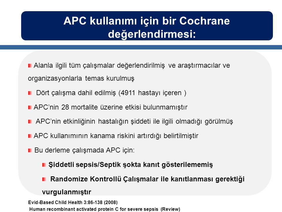APC kullanımı için bir Cochrane değerlendirmesi: