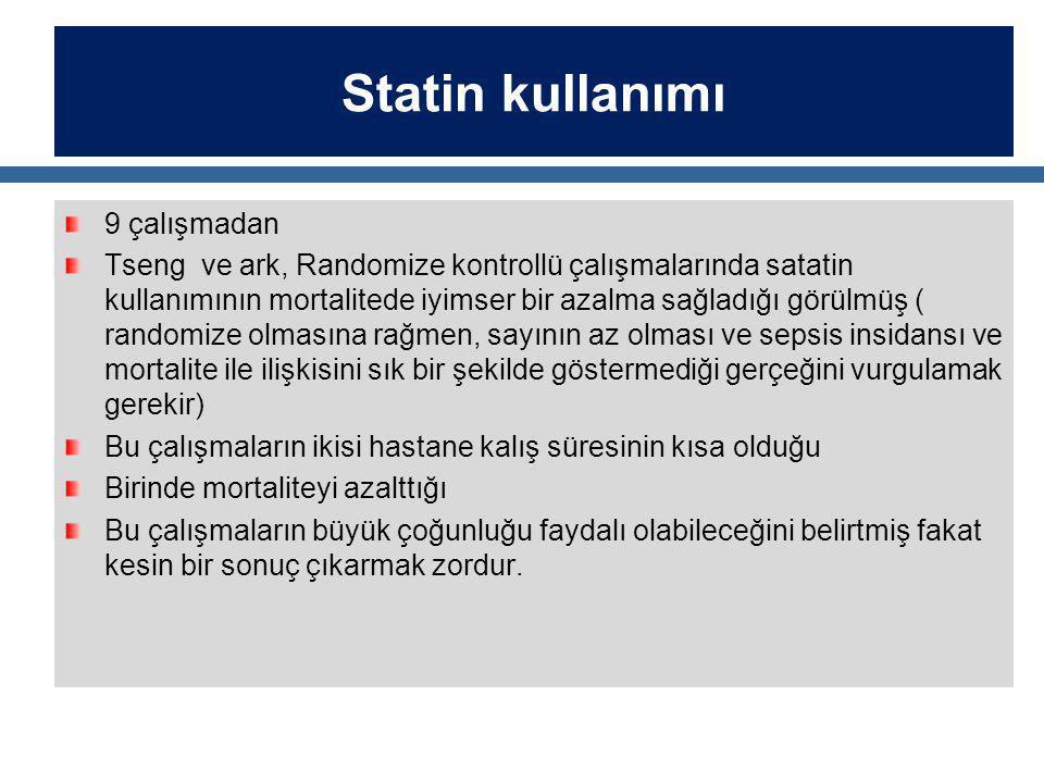 Statin kullanımı 9 çalışmadan