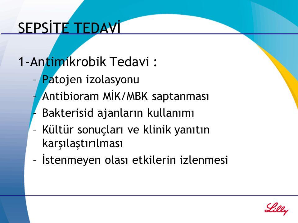 SEPSİTE TEDAVİ 1-Antimikrobik Tedavi : Patojen izolasyonu