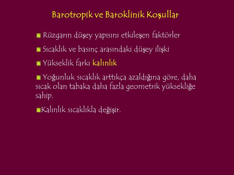 Barotropik ve Baroklinik Koşullar