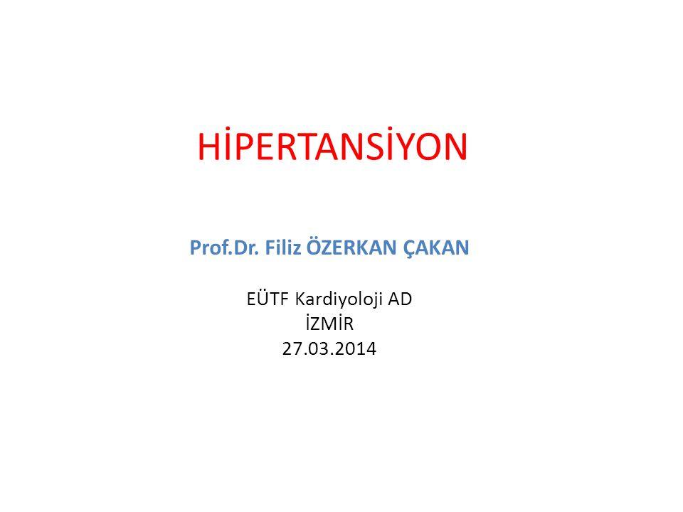 Prof.Dr. Filiz ÖZERKAN ÇAKAN EÜTF Kardiyoloji AD İZMİR 27.03.2014