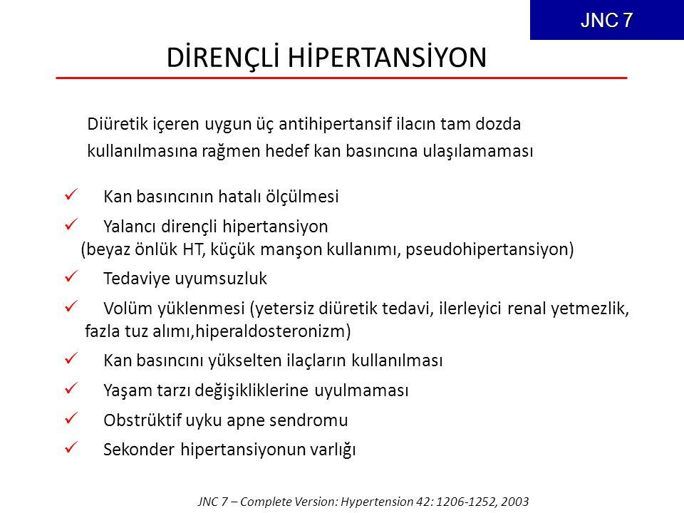 DİRENÇLİ HİPERTANSİYON