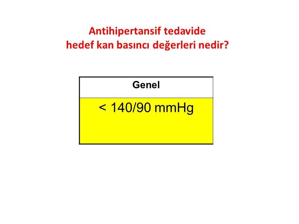 Antihipertansif tedavide hedef kan basıncı değerleri nedir