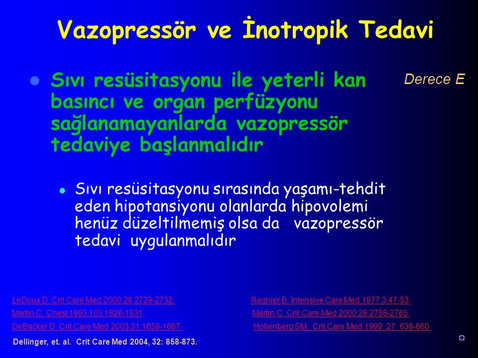 Vazopressör ve İnotropik Tedavi