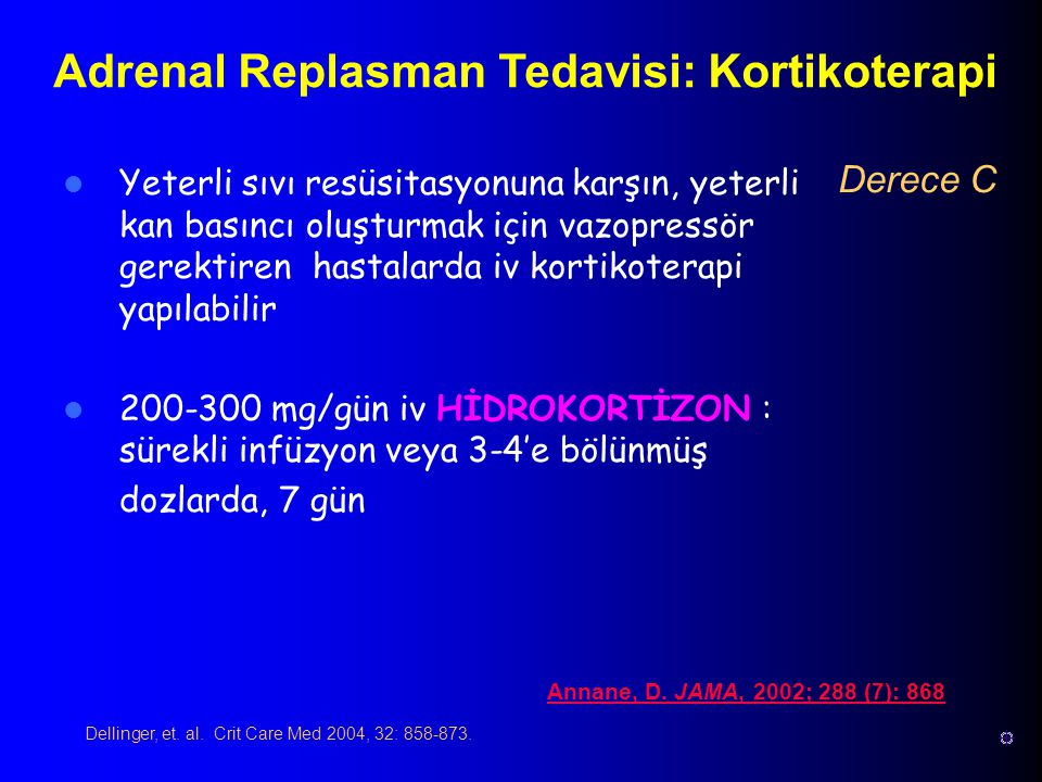 Adrenal Replasman Tedavisi: Kortikoterapi