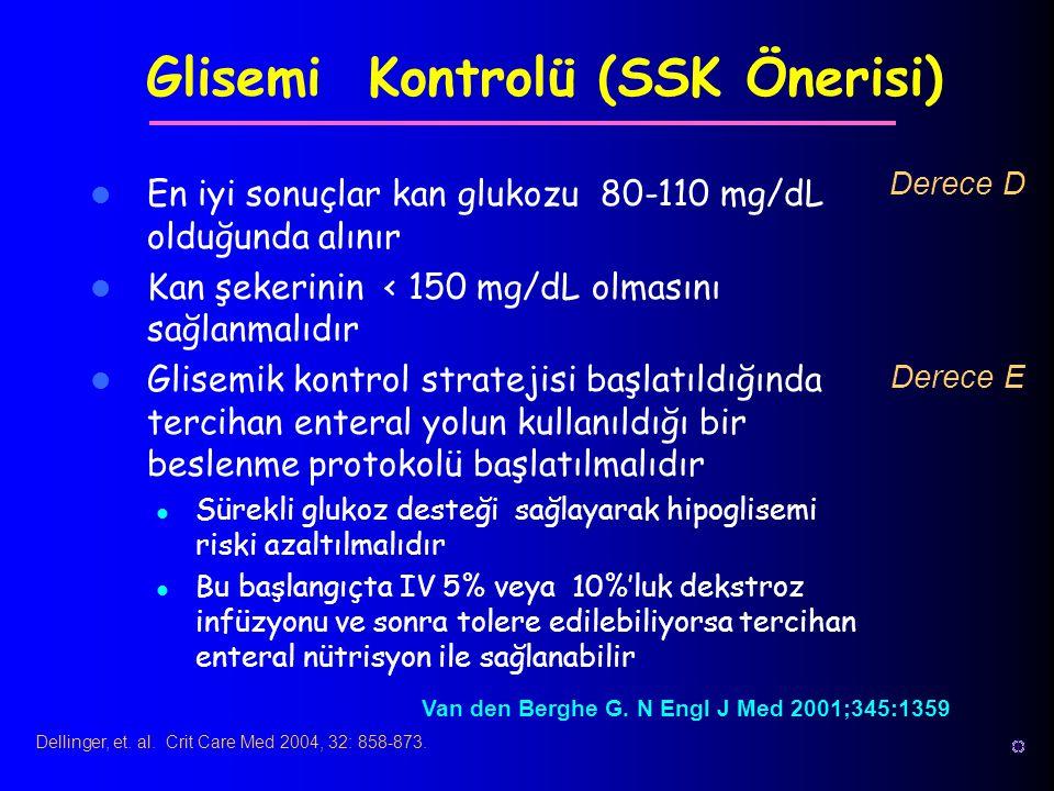 Glisemi Kontrolü (SSK Önerisi)