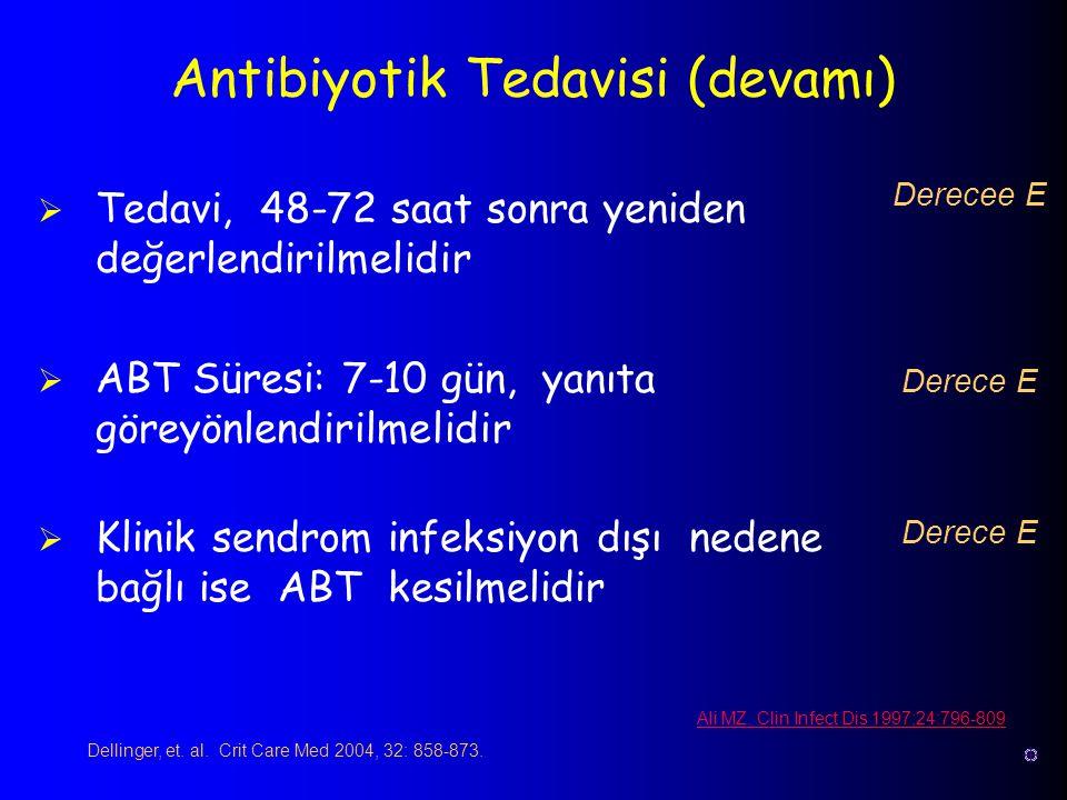 Antibiyotik Tedavisi (devamı)