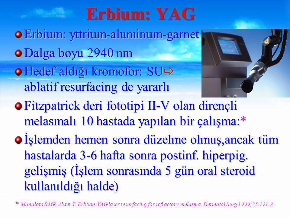 Erbium: YAG Erbium: yttrium-aluminum-garnet Dalga boyu 2940 nm