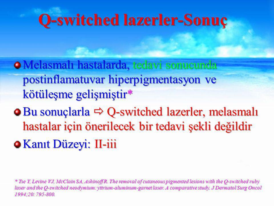 Q-switched lazerler-Sonuç