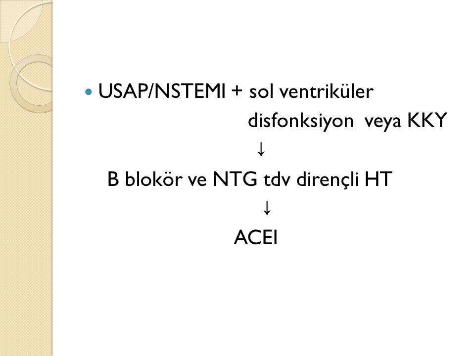 USAP/NSTEMI + sol ventriküler