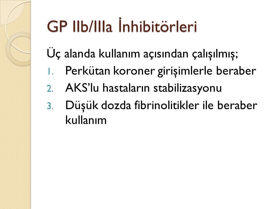GP IIb/IIIa İnhibitörleri
