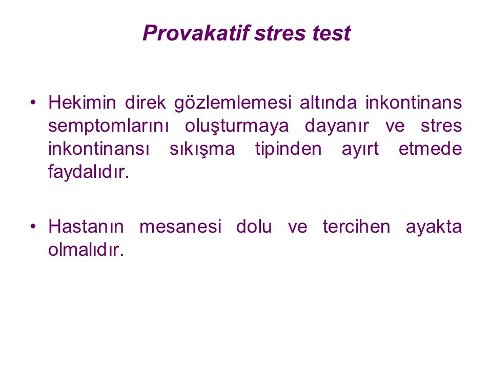 Provakatif stres test