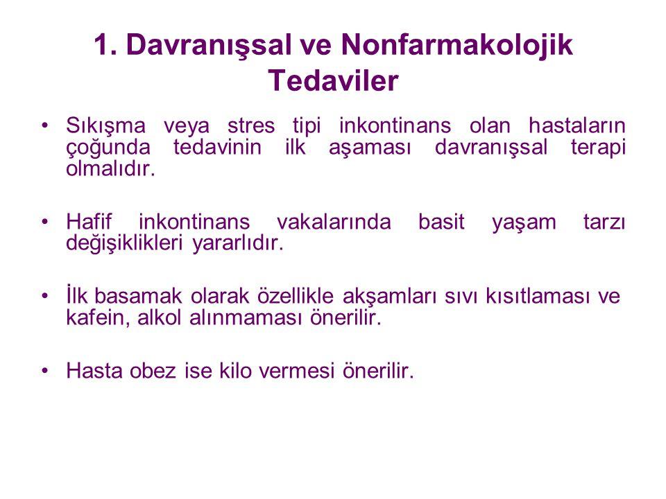1. Davranışsal ve Nonfarmakolojik Tedaviler