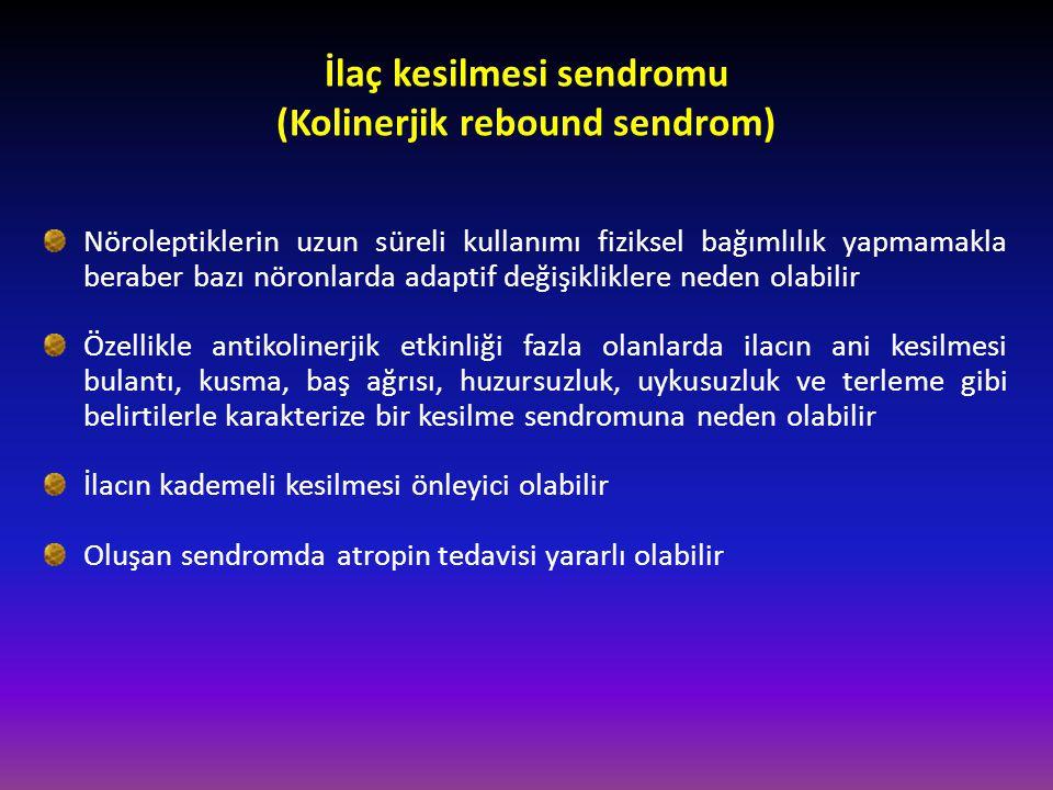 İlaç kesilmesi sendromu (Kolinerjik rebound sendrom)