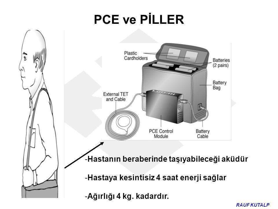 PCE ve PİLLER Hastanın beraberinde taşıyabileceği aküdür