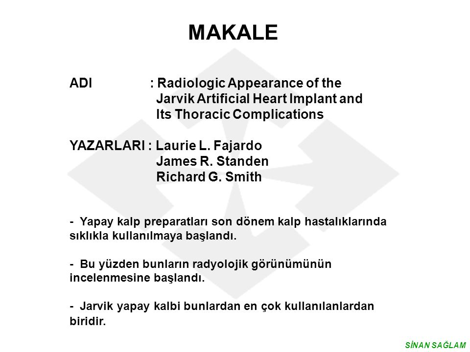 MAKALE ADI : Radiologic Appearance of the
