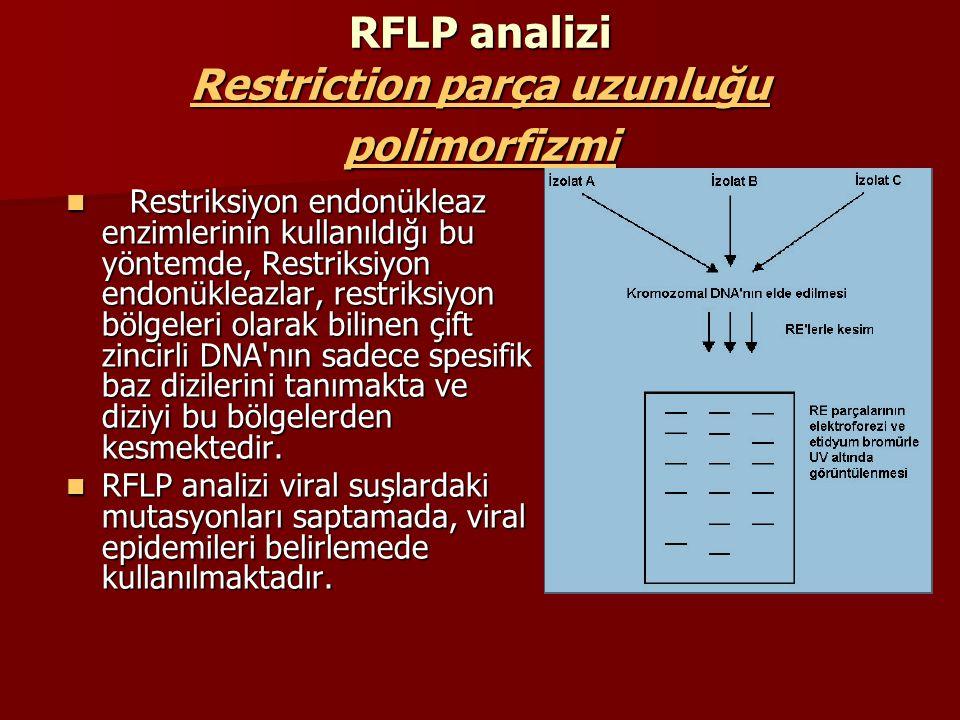 RFLP analizi Restriction parça uzunluğu polimorfizmi