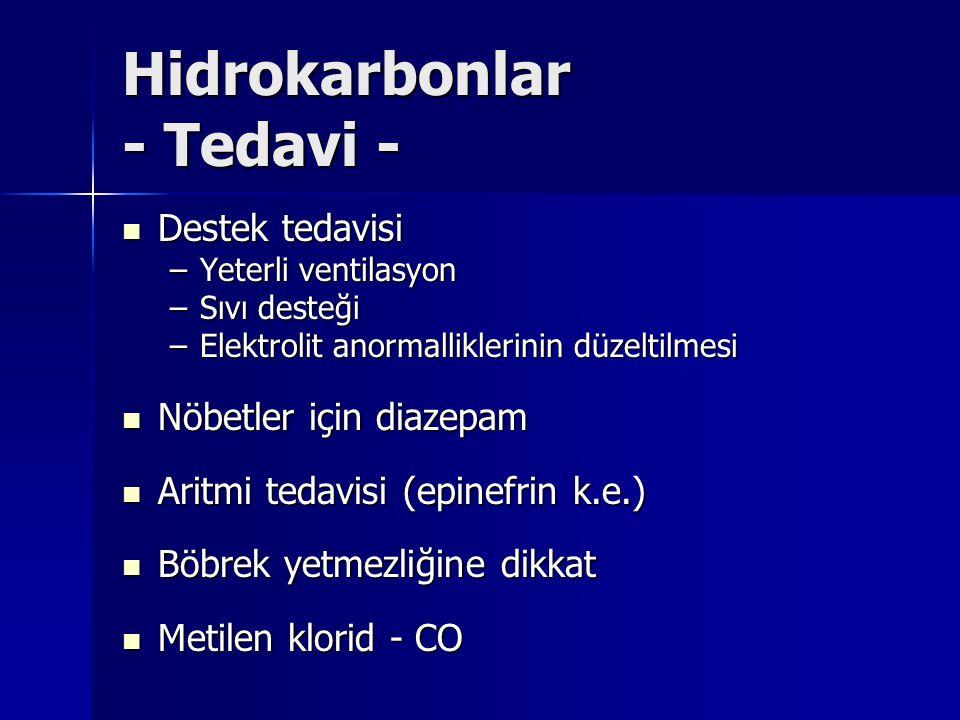 Hidrokarbonlar - Tedavi -