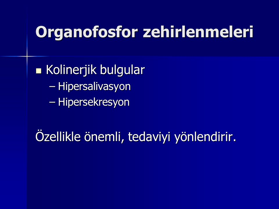 Organofosfor zehirlenmeleri