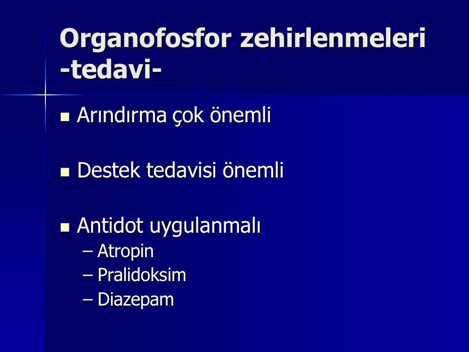 Organofosfor zehirlenmeleri -tedavi-