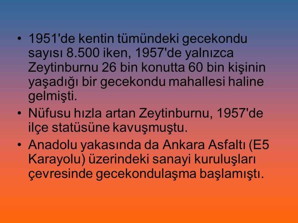 1951 de kentin tümündeki gecekondu sayısı 8