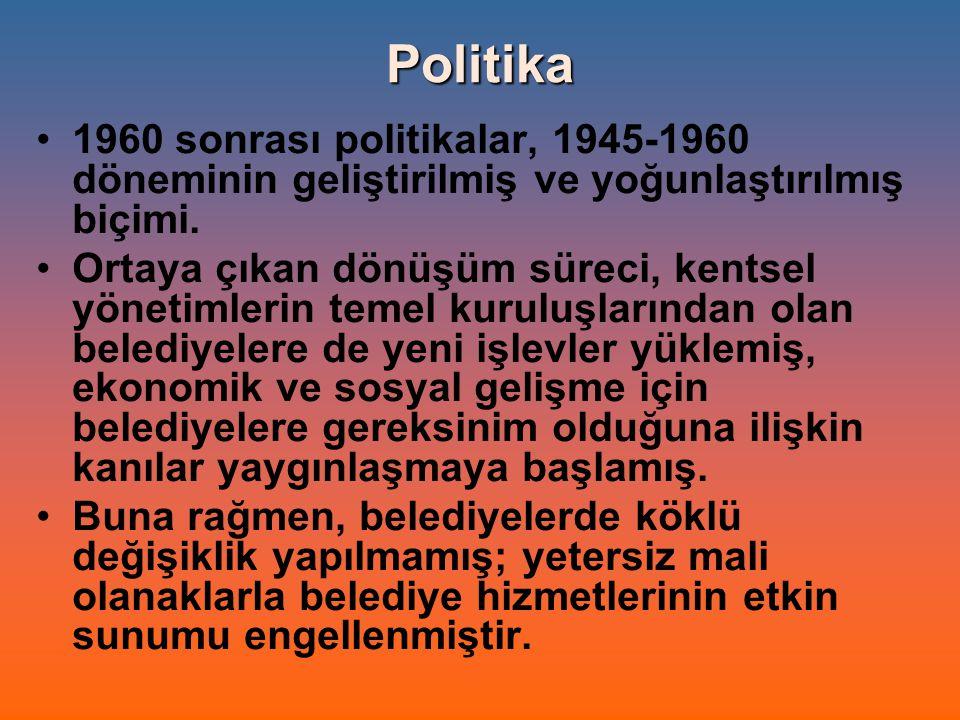 Politika 1960 sonrası politikalar, 1945-1960 döneminin geliştirilmiş ve yoğunlaştırılmış biçimi.