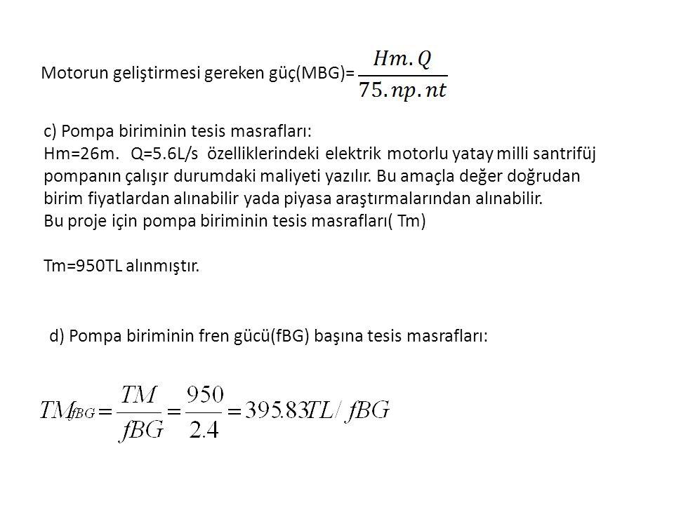 Motorun geliştirmesi gereken güç(MBG)=