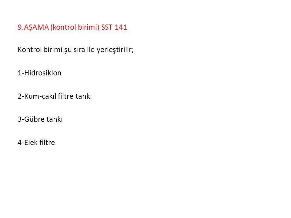 9.AŞAMA (kontrol birimi) SST 141