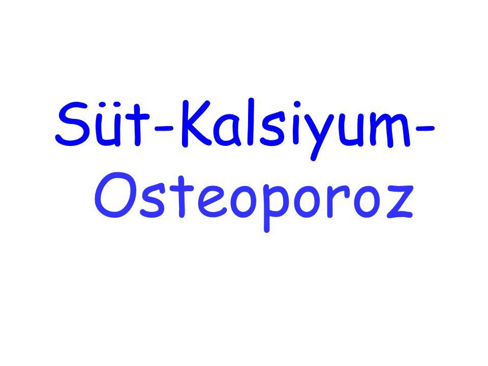 Süt-Kalsiyum-Osteoporoz