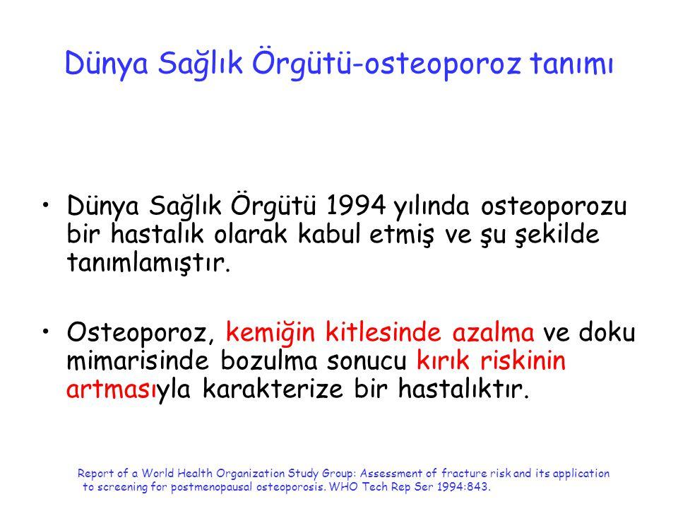 Dünya Sağlık Örgütü-osteoporoz tanımı