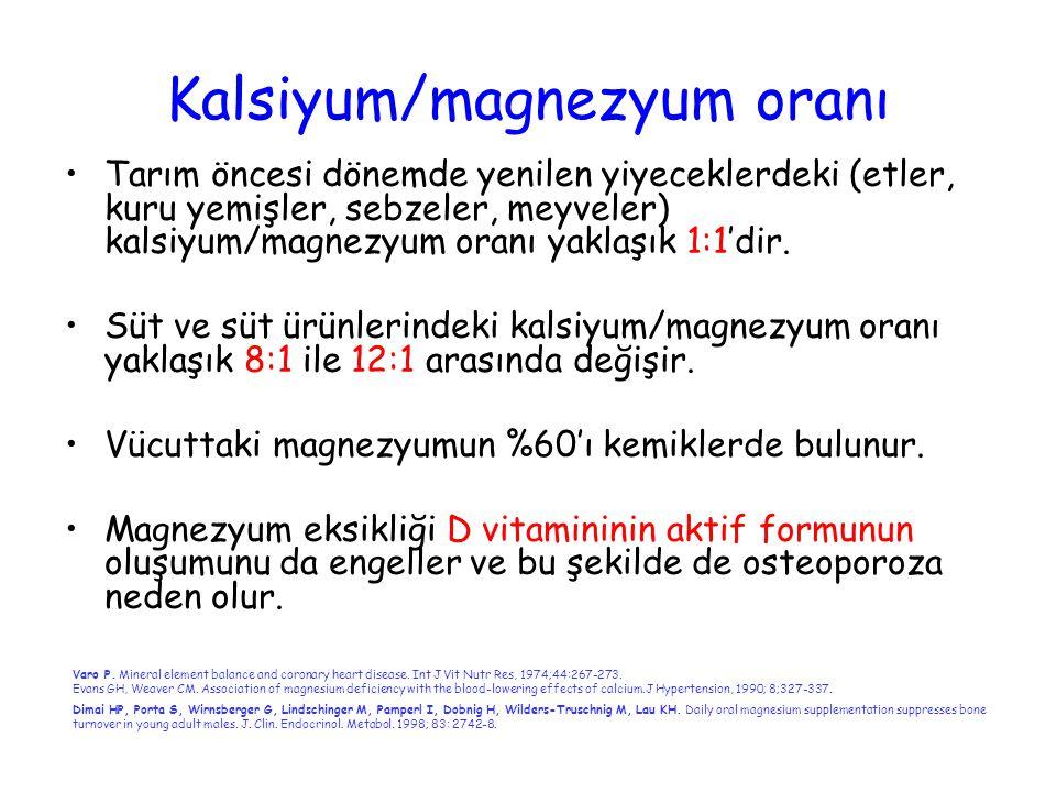 Kalsiyum/magnezyum oranı