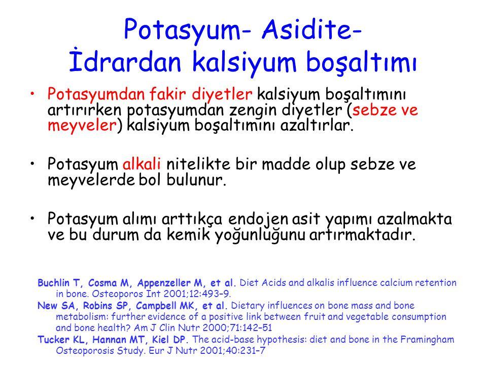 Potasyum- Asidite- İdrardan kalsiyum boşaltımı