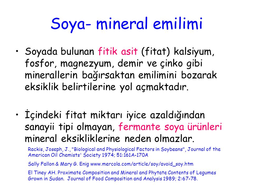 Soya- mineral emilimi