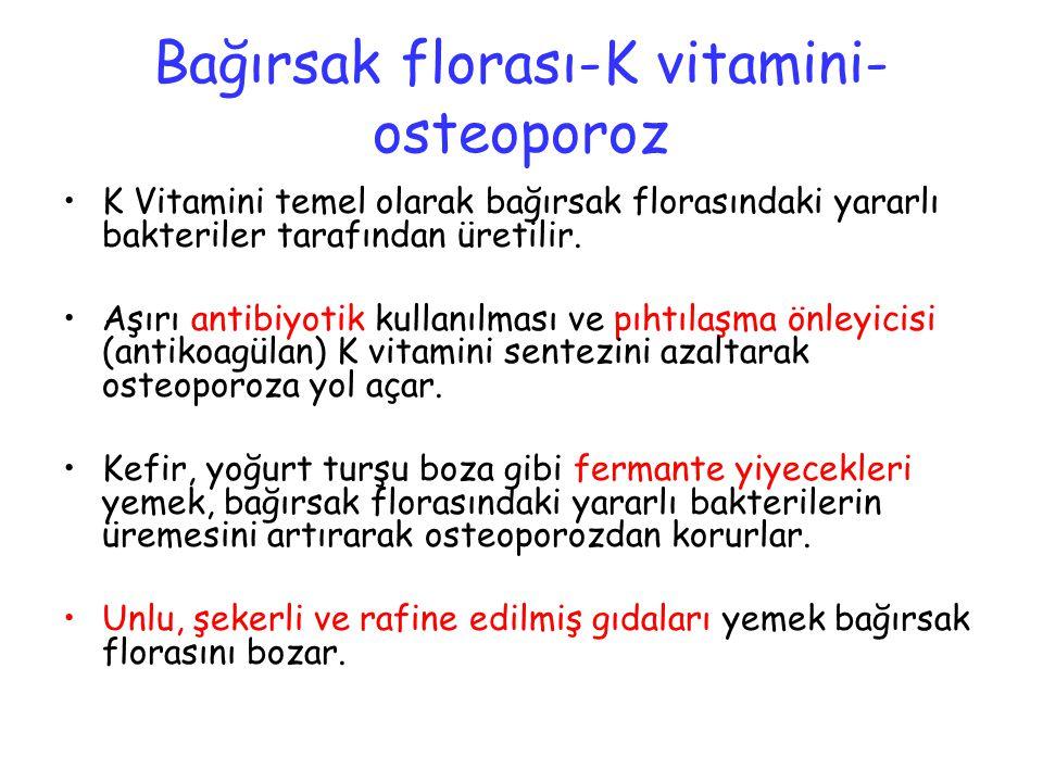 Bağırsak florası-K vitamini-osteoporoz