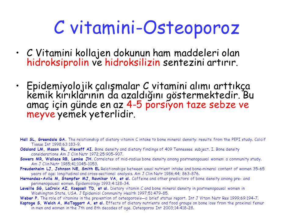 C vitamini-Osteoporoz