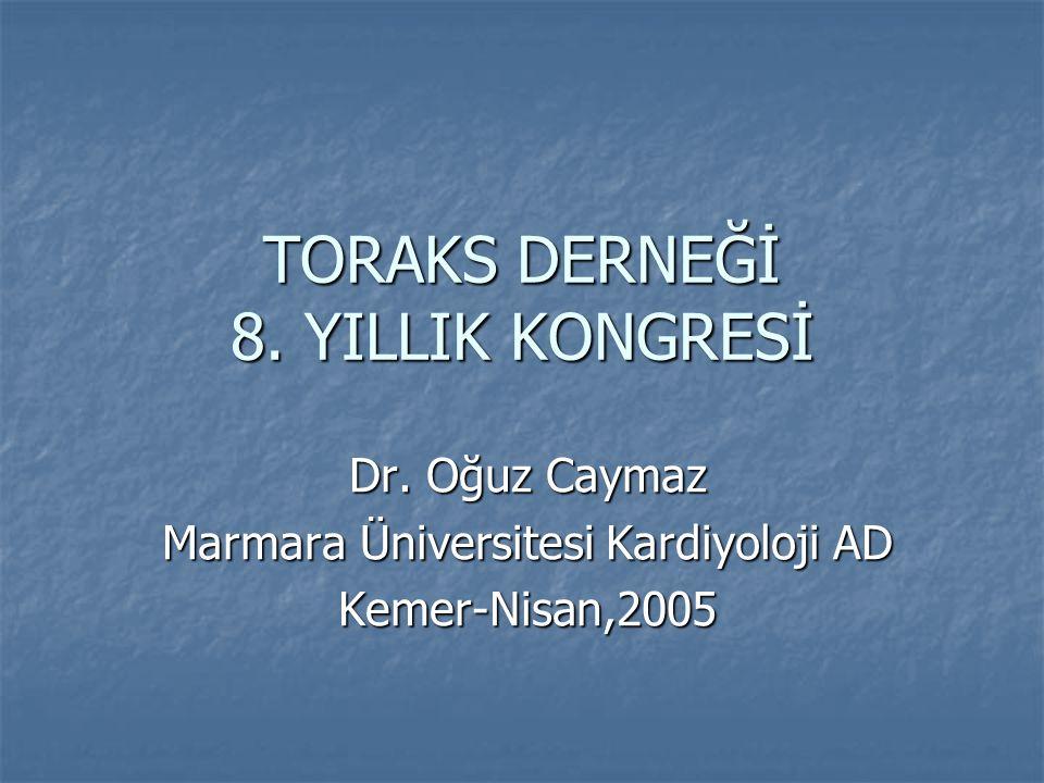 TORAKS DERNEĞİ 8. YILLIK KONGRESİ