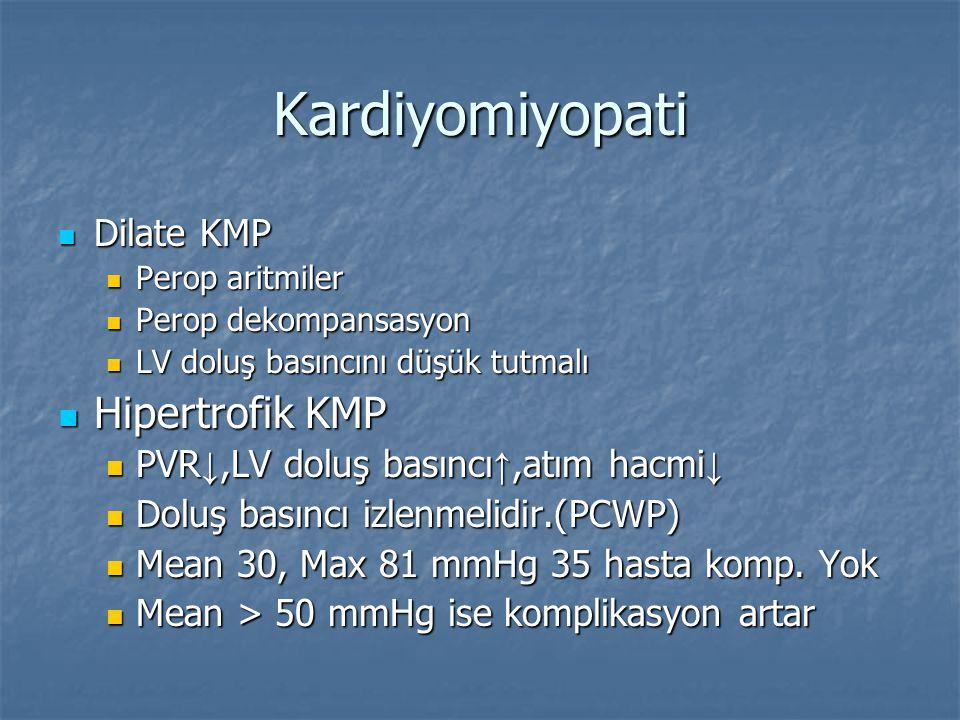 Kardiyomiyopati Hipertrofik KMP Dilate KMP