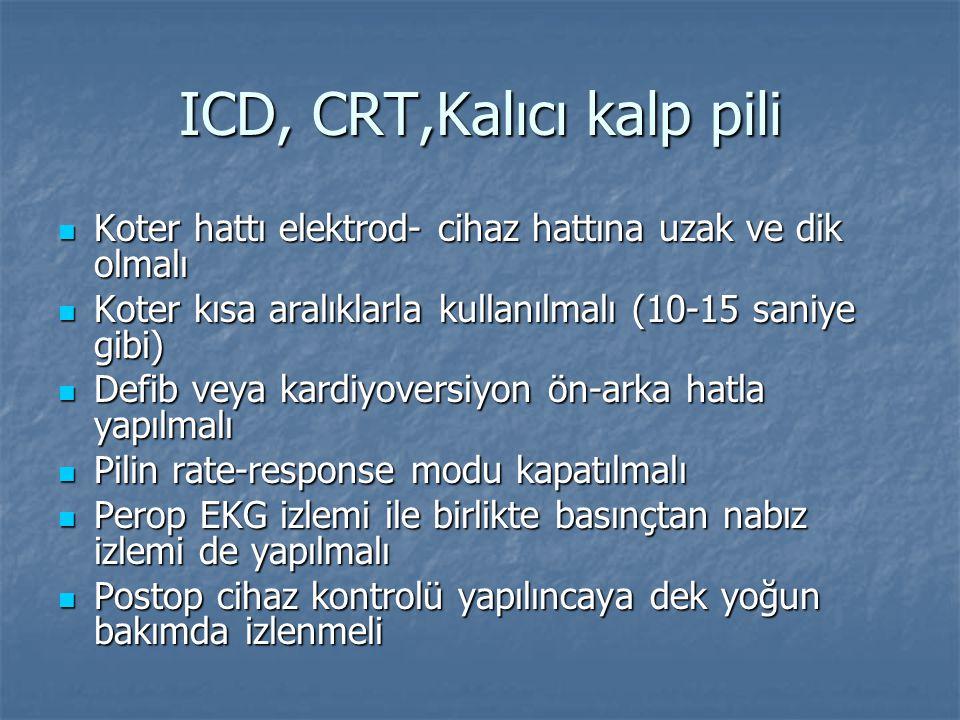 ICD, CRT,Kalıcı kalp pili