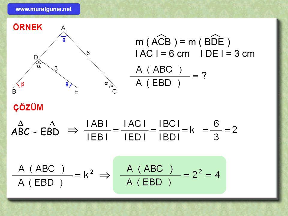    m ( ACB ) = m ( BDE ) l AC l = 6 cm l DE l = 3 cm ABC  EBD