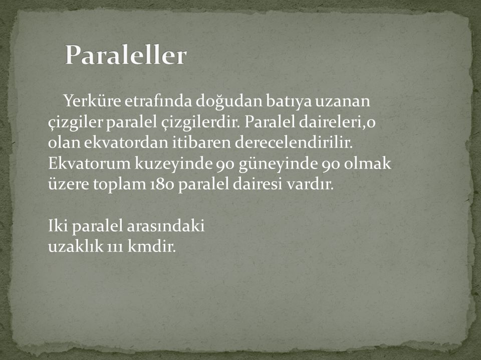 Paraleller