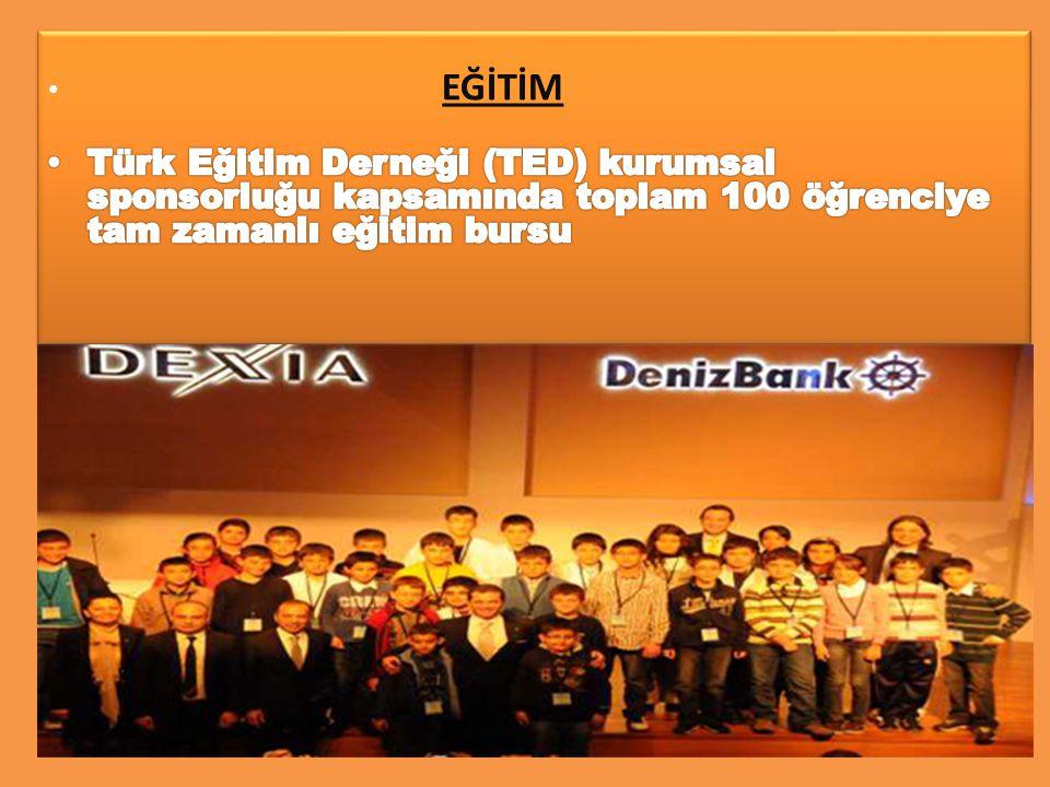 EĞİTİM Türk Eğitim Derneği (TED) kurumsal sponsorluğu kapsamında toplam 100 öğrenciye tam zamanlı eğitim bursu.